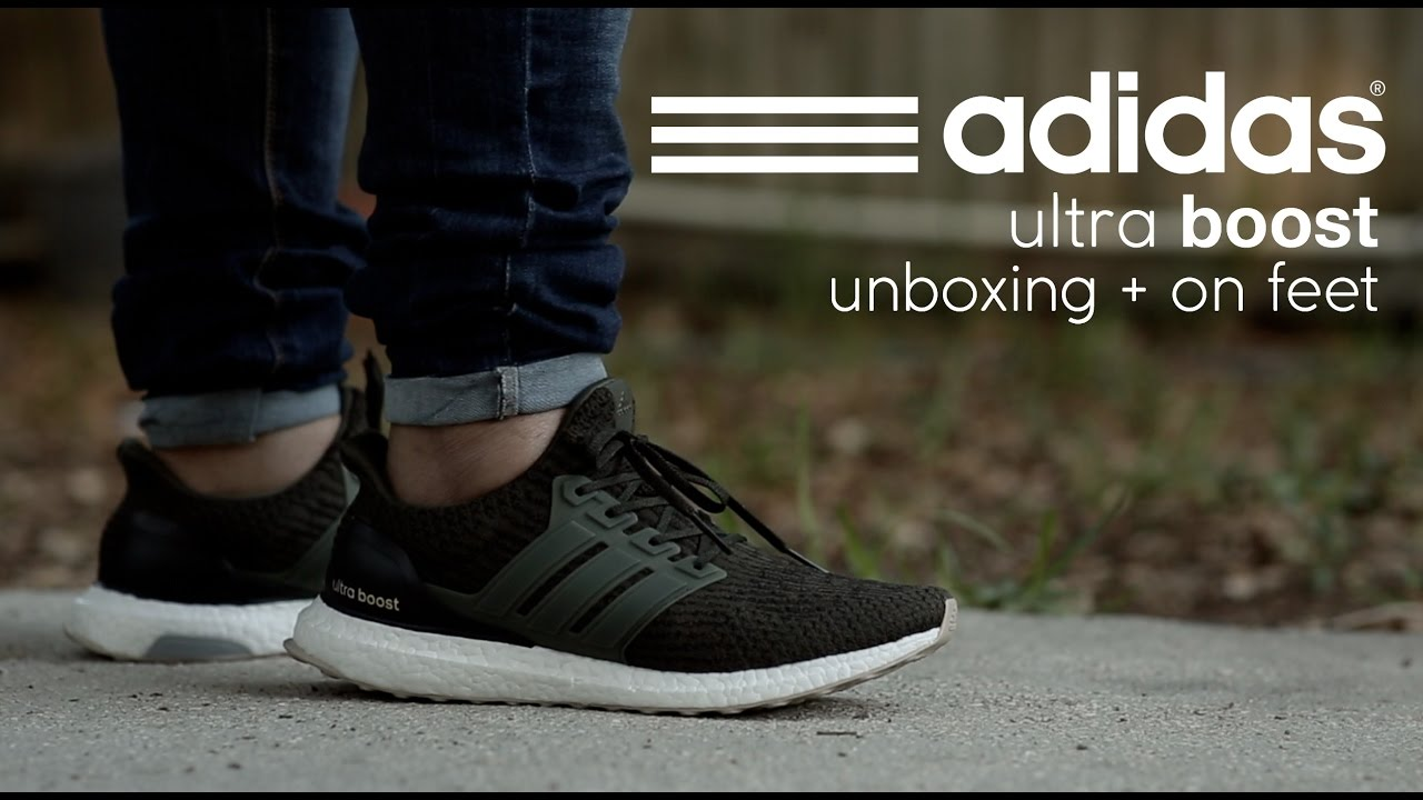 3e00e37d8c9af8 Adidas Ultra Boost  Night Cargo  Unboxing + On Feet - YouTube