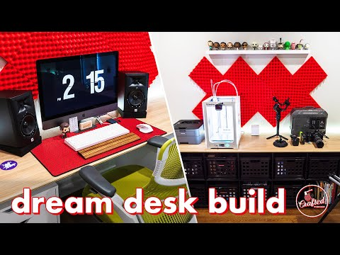 Building my DREAM DESK and OFFICE! 🖥 My Video Editing Desk Setup