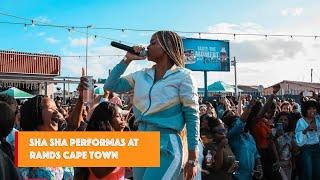 Sha Sha performing at Rands Cape Town