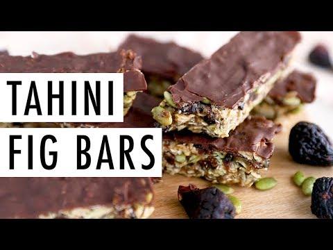 Healthy Tahini Fig Bars | Perfect Make Ahead Snack