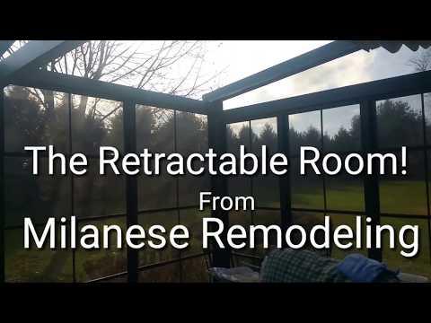 Italian Convertible Deck! Retractable Patio Room, Roof, Screens & Windows