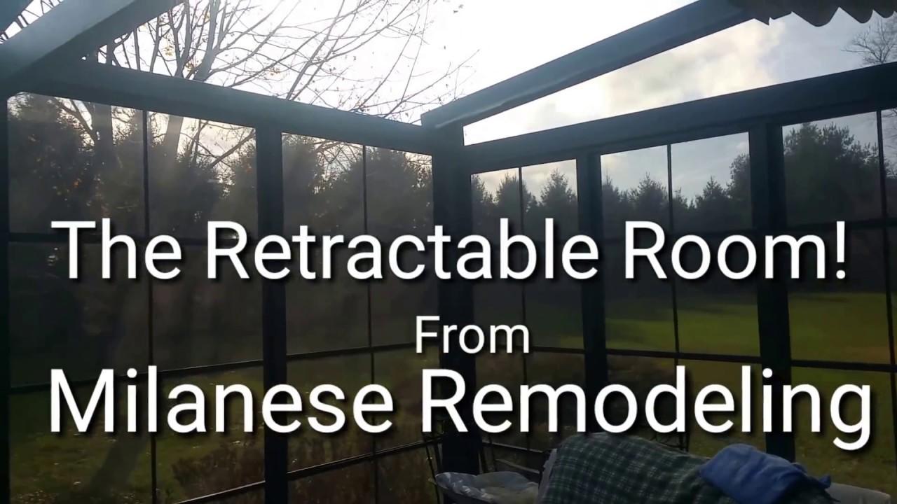 Italian Convertible Deck Retractable Patio Room Roof