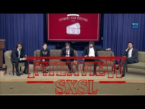Matt & Ross Duffer Q&A at The White House Full ft. Shawn Levy, Dan Cohen & Millie Bobby Brown