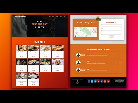 Build A Responsive Website For Restaurants   HTML And CSS ( 2020 ) ( Part 1 )