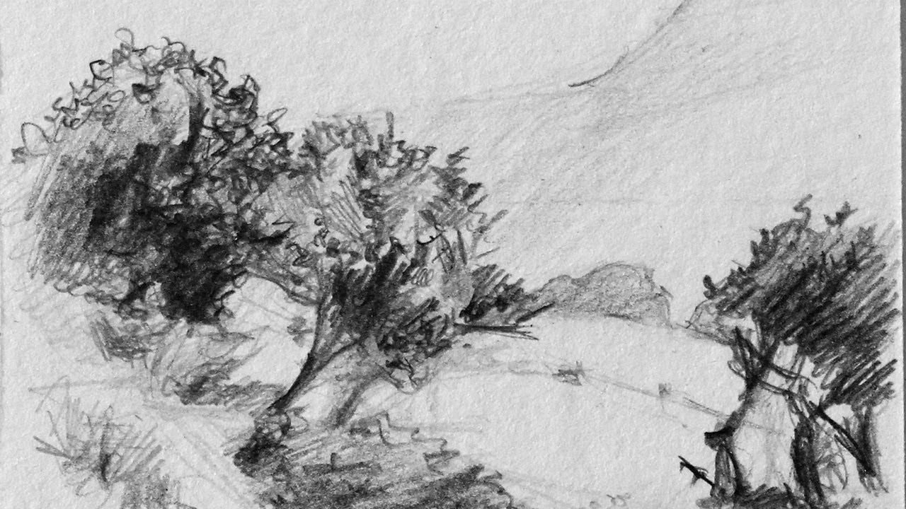 Apprendre dessiner un paysage youtube - Dessiner un paysage d hiver ...