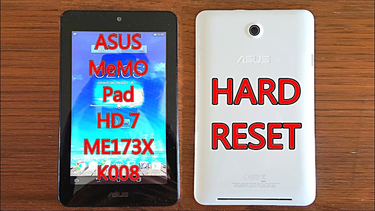 ASUS MeMO Pad HD 7 ME173X K008 | Hard Reset & First Configuration
