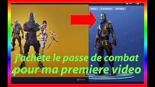 I buy the fight pass!! for my first video!! Fortnite