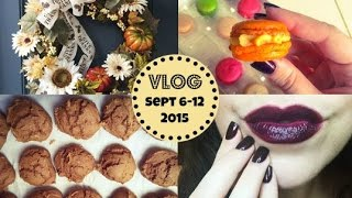 Honeybee Vlog Cam: Fall Decor, Dark Lips/nails, Easy Pumpkin Cookie Recipe