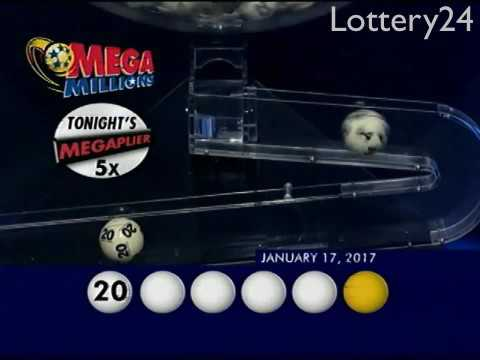 2017 01 17 Mega Millions Numbers and draw results