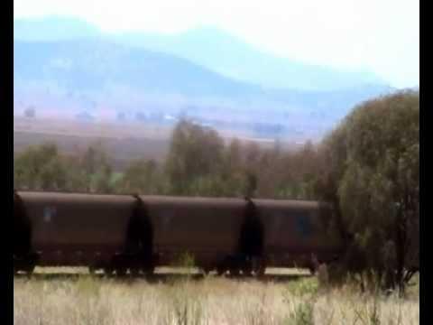 SOUTHBOUND COAL TRAIN NEAR BREEZA NSW
