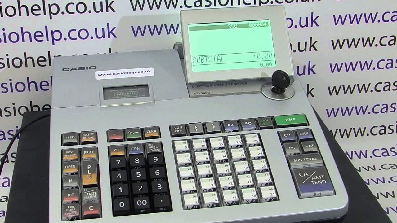 How To Operate The Cash Register Cash Register Instructions