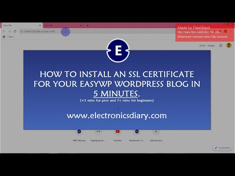 Install an SSL Certificate on EasyWP WordPress website in 5 minutes