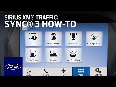 SYNC 3 Sirius XM Traffic And Travel Link   SYNC 3 How-To   Ford
