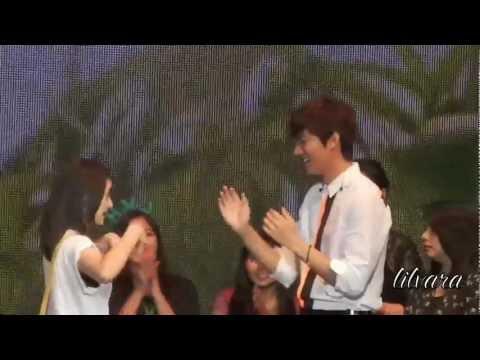 [HD Fancam] Fans teach Lee Minho how to play Ampar Ampar Pisang