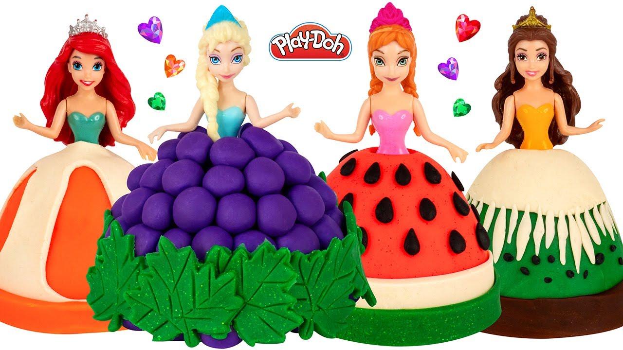 How to Make Play Doh Fruit Dresses for Disney Princesses DIY
