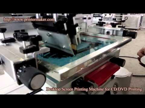 CD DVD Desktop Vacuum Screen Printing Machine
