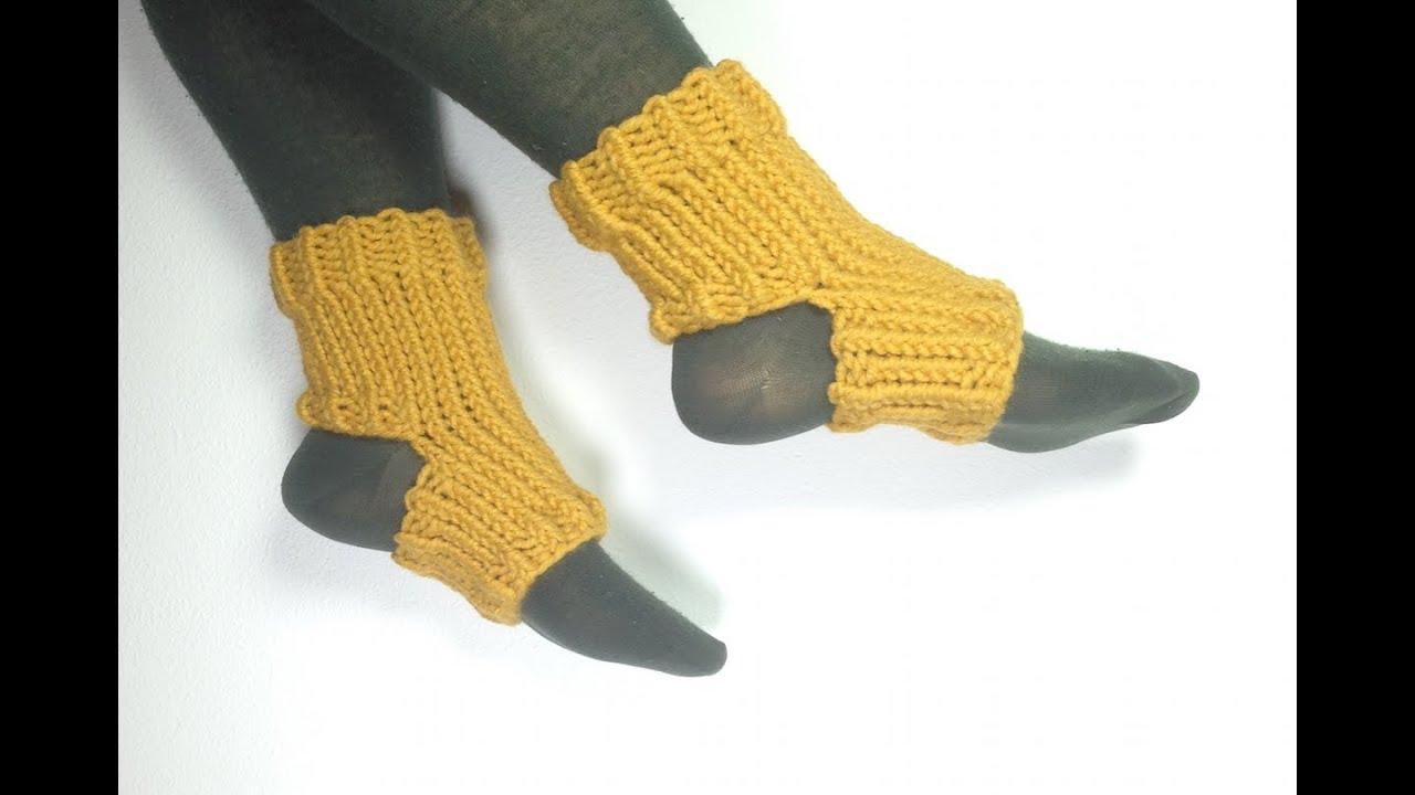 Cómo tejer en telar unos calcetines de yoga (Tutorial DIY) - YouTube