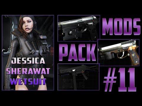 Resident Evil 4 Coletânea de Mods #11 Jéssica Sherawat Wetsuit e Analisando Mods de Armas.