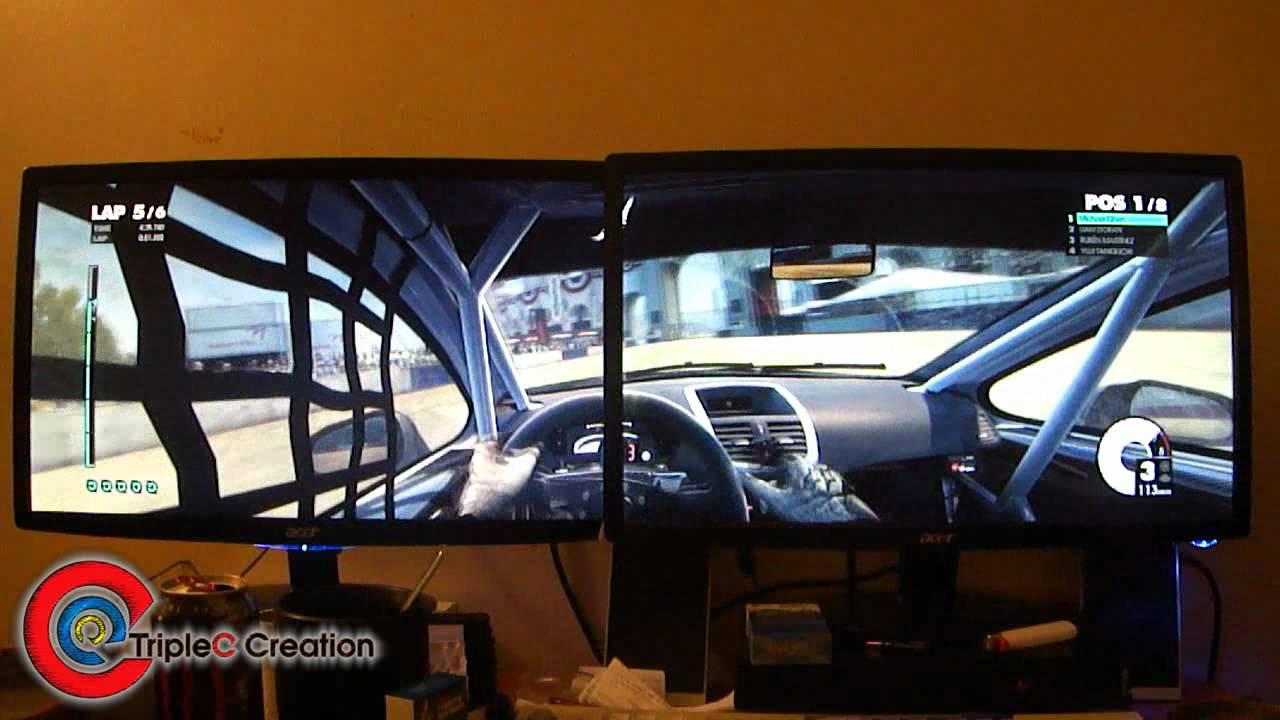 DiRT 3 Dual Screen Eyefinity at TripleC's Perspective