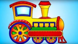 Развивающие мультики для малышей: Собираем машинки, паровозики и грузовики
