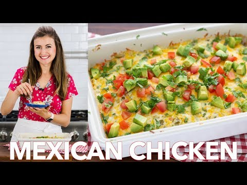 Easy Mexican CHICKEN Casserole (Chicken Bake Recipe)
