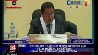 Aprueban 18 meses de prisión contra Félix Moreno (3/4)