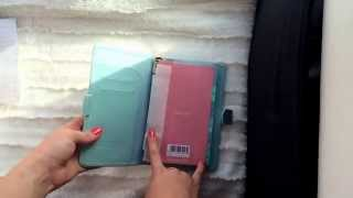 Unboxing of my new duck egg blue filofax
