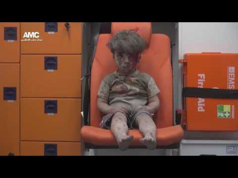 Omran Daqneesh saved after an airstrike near Aleppo in Syria
