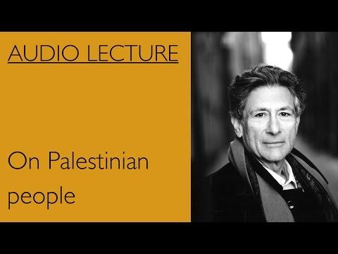 Edward Said On Palestinian People
