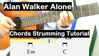 Download Alan Walker Alone Guitar Lesson Chords Strumming Tutorial Guitar Lessons for Beginners Mp3