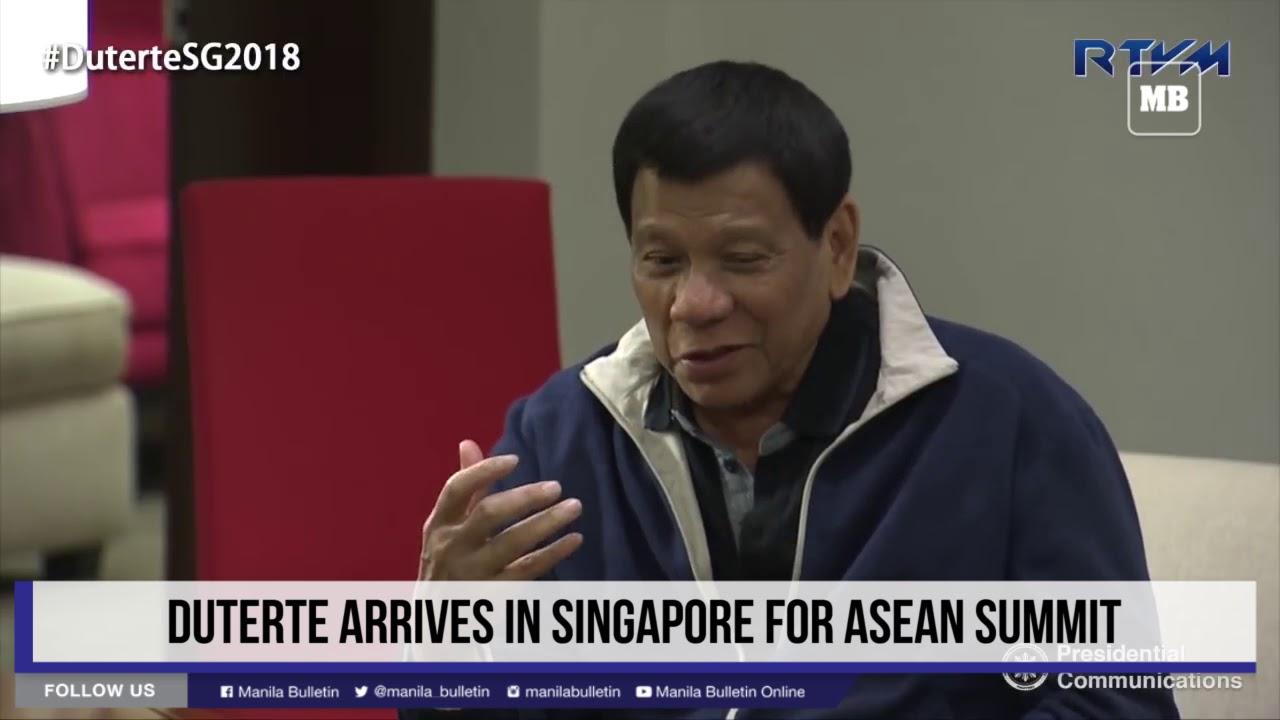 Duterte arrives in Singapore for ASEAN Summit