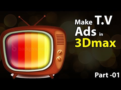 T.V Ads in 3d max with Reactor simulation Part-01