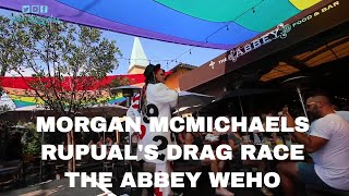 MORGAN MCMICHAELS FROM RUPAUL'S DRAG RACE PERFORMING AT THE ABBEY WEHO: DORI CHRONICLES