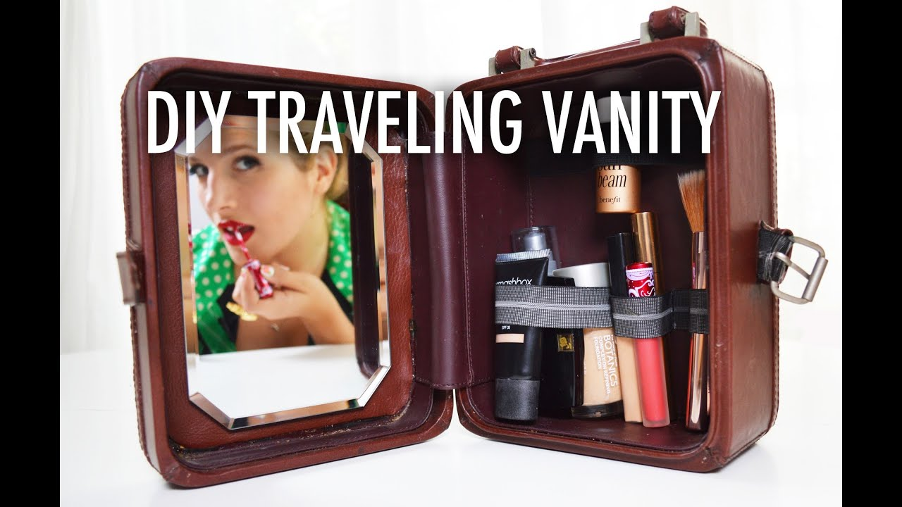 DIY Traveling Vanity and Make-up Case with Mr. Kate - YouTube