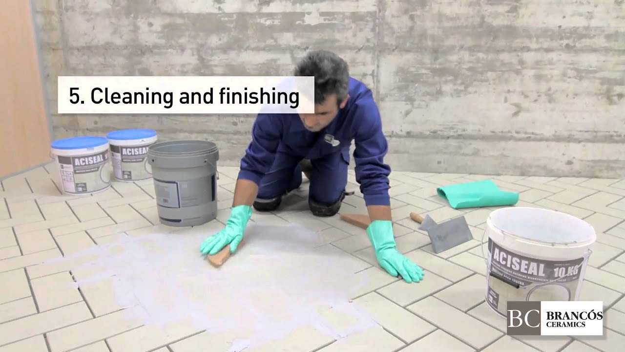 How to install and clean ceramic floor tiles youtube how to install and clean ceramic floor tiles doublecrazyfo Choice Image