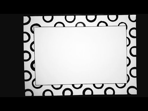 Simple Border Design To Draw On Paper Simple Border Designs For