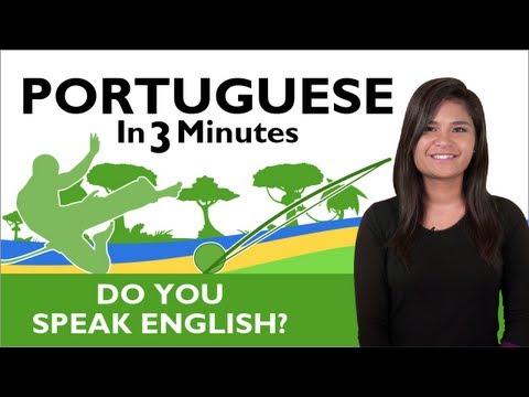 Learn  Brazilian Portuguese - Do you speak English?