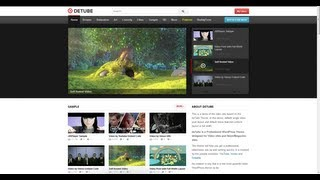 Detube Wordpress Theme Tutorial / Create Youtube-like Site!