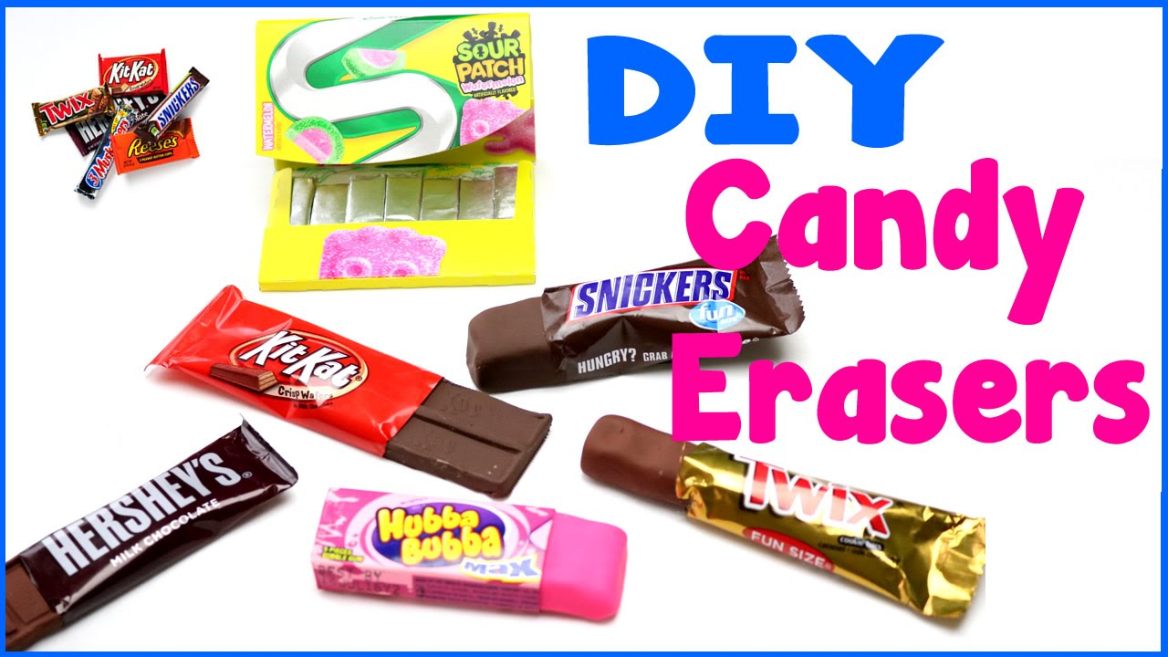 Diy Crafts 6 Easy Diy Candy Erasers Cool Unique Craft Tutorial