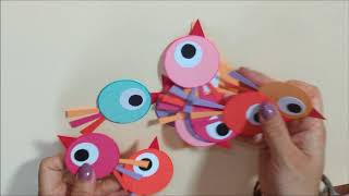 Best out of Waste, Easy and Creative Summer Camp Kids Activity (2018), DIY Paper Bird Wall Hanging