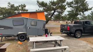 Cold weather camping aт Salisbury Beach State Reservation Park in Massachusetts