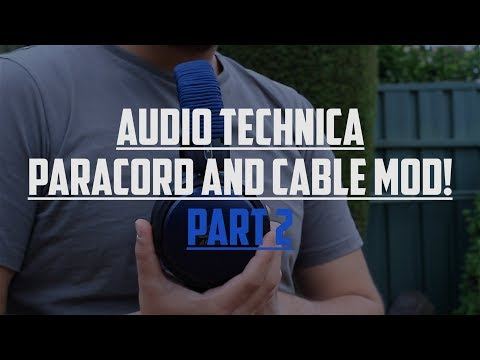 Paracord Headband Headphone! - AT A700X Mods! (Part 2)