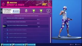 Fortnite Spray And Pray Challenges All Prestige challenges And Rewards