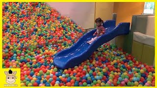 Indoor Playground Fun for Kids and Family Play Slide Rainbow Balls Colors | MariAndKids Toys