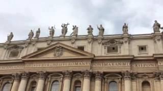 Посещение Ватикана. Базилика Святого Петра-достопримечательности Рима(Ватикан глазами туриста. Любительское видео., 2016-03-14T13:39:26.000Z)