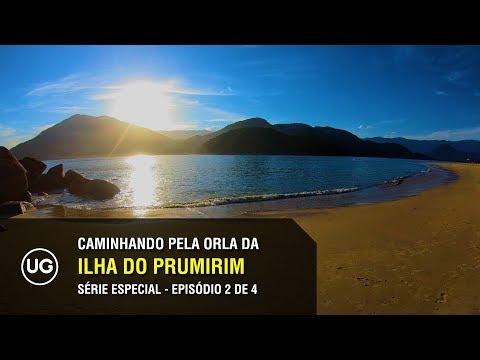 Ilha do Prumirim, Ubatuba SP - Caminhando pela orla da Prainha do Prumirim - Especial 2 de 4