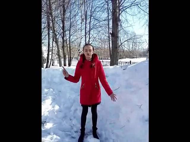 Изображение предпросмотра прочтения – ВероникаИванова читает произведение «Весна (Зима не даром злится…)» Ф.И.Тютчева