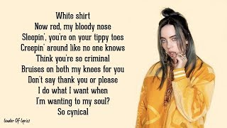 Billie Eilish - bad guy (Lyrics) Video