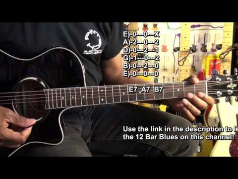 SINGLE RIFF 12 Bar Blues Guitar Solo Lesson For Beginners EricBlackmonGuitar