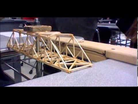 Toothpick Bridge Demolition Youtube